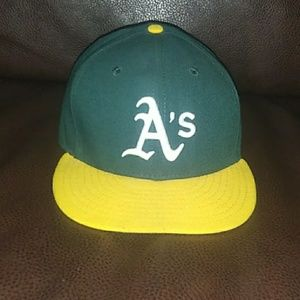 Oakland A's fitted new era hat 7 3/8